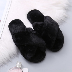 Women's plush 2020 Spring and Autumn new women Slippers mop home cotton mop's flat-soled home indoor and outdoor plush cotton slippers for w