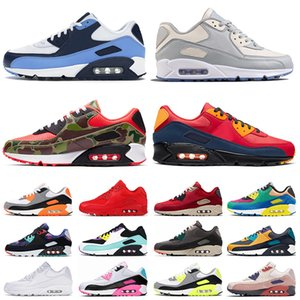 nike air max 90 max air 90 air airmax 90 2020 das mulheres dos homens Moda Running Shoes Top Quality Almofadas Sneakers UNC Dio Camo OG Volt Esportes Formadores Sapatos