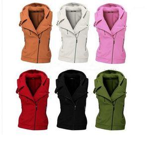 Outerwear Ladies Winter Popular New Style Coats Womens Fashion Designer Vest Zipper Female Pure Color Regular