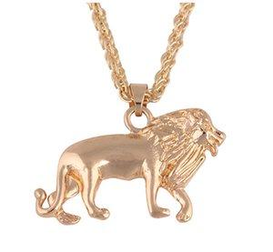 Löwe-Kopf-Kette für Frauen-Anhänger Tier-Halskette Afrika Lion Ethiopian beste Geschenk-Charme-Halskette