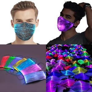 Máscara luminosa de Halloween com pm2.5 filtro 7 cores brilhando led face máscaras para festival de festa de Natal Masquerade rave máscara
