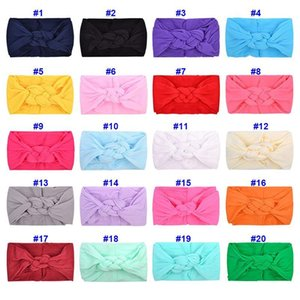 Baby Headbands Baby Hairband Headwrap Bows Knot Nylon Headwrap Super Soft Stretchy Nylon Hair bands for Newborn Children