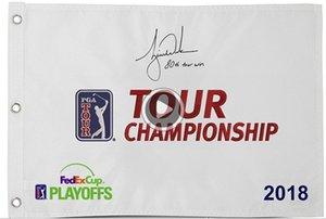 Тайгер Вудс Ned автограф тур чемпионат Мастерс открыт флаг гольф контактных письмена «восьмидесятый Tour Win»