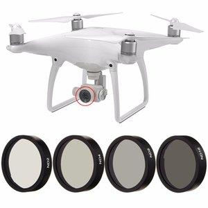 Nueva 4pc Filtro ND2 ND4 ND8 ND16 Len para Frame DJI Phantom 3 4 Profesional Avanzada Cámara Cámara Drone lente Conjunto Negro