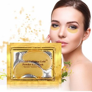 Gold Moisturizing Eye Mask Eye Patches Crystal Collagen Eye Hydrating Face Masks Anti-Aging Wrinkle Skin Care
