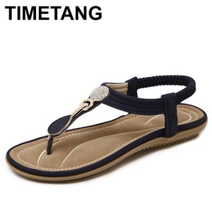 TIMETANG estate nuova Boemia cuneo donne sandali con strass Donna Infradito Vintage Scarpe Beach Y200405