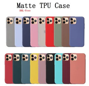 Matte antichocs Phone Case pour iPhone 12 Pro Max TPU 11 XR bonbons XS 8/7/6 Housse de protection