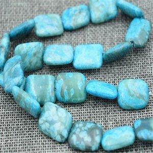 "Nouveau 13x18mm bleu fou dentelle Agate Onyx Rectangle perles en vrac 15 ""brin"