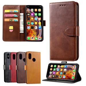 Haute qualité Housse en cuir pour iPhone 12 11 pro max avec fente pour carte Wallet flip Stand Case pour iPhone xs xr 6 7 plus 8