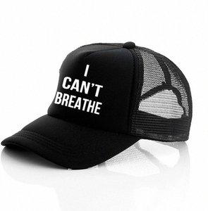 Non riesco a respirare cappello nero VIVE MATERIA, giustizia per George Floyd del cappello di Snapback Uomini Berretto da baseball cappello da sole LJJK2159 G1aY #