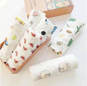Couverture du nouveau-né Photographie bébés Couvertures accessoires pour enfants Serviette de bain d'impression Unicorn Cactus pastèque Sac de couchage Literie 5 Chambre 5 mm F2