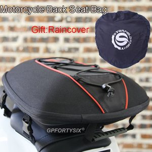 Motorcycle Tail Bag Waterproof Multifunction Motorcycle Rear Seat Bag Motorcycle Rider Backpack Moto Travel Bags with Rain Cover