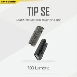 NItecore البسيطة مضيا الشعلة TIP SE 700 لومينز 2 × OSRAM P8 LED مع بطارية قابلة للشحن بطارية ليثيوم أيون ثنائي النواة معدنية سلسلة المفاتيح الخفيفة