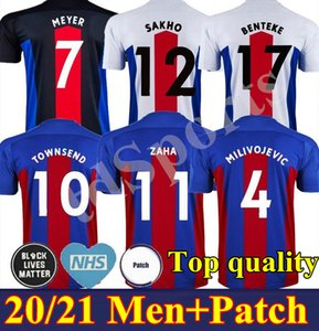 20 21 Milivojevic Mens Soccer Trackss Новый Crystal Townsend Zaha Sakho Benteke Bentshuayi Home Красный синий футбол футболки дворца короткая форма