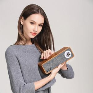cgjxs Smalody Переносной деревянная беспроводного динамик Bluetooth Ткань Hifi Bass Динамика 2 0,1 стерео мини-сабвуфер Soundbar Mp3 Music Wood Днка