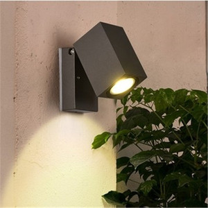 Modern Simple Outdoor Rotatable Single Head Led Wall Light Corridor Lamp External Wall Courtyard Lamp Free Shipping Mounted