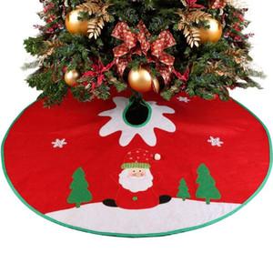 OurWarm 90cm genähte Weihnachts Weihnachtsschneeflo Rock kleine rote Nov-woven Baum Rock Neujahr 2020 Weihnachtsdekoration für Haus