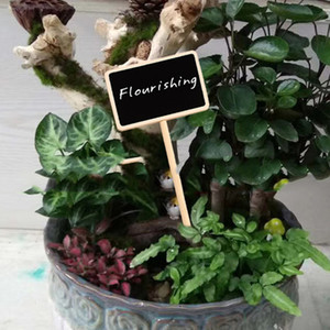 Mini Wooden Chalkboard Label Creative Party Blackboard Memo Tags Plants Flowers Price Tag Wedding Garden Decorations Message Card ZX BH2349