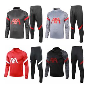 2020 Survêtement M. Sialah VIRGILE Football KANTE adulte Veste costume de football manches longues de jogging noir et rouge 20 costume de formation 21