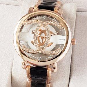 reloj mujer mode Marque complète des femmes de montres de diamants simples dames numériques robe de luxe de femmes Montres Bracelet en or rose Horloge