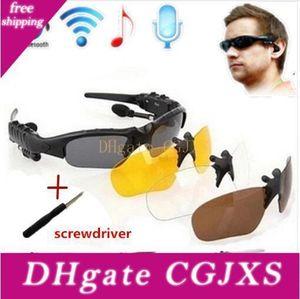 Три комплекта Bluetooth Glasses объектива Беспроводная Bluetooth 4 +0,0 гарнитуры Телефон движущие Солнцезащитные очки / MP3 Глаза очки