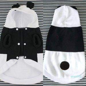 Panda Custome roupas para cachorros Cosplay Outwear Botão engraçado Quente Outono Inverno durável pelúcia macia Fotografia Prop com chapéu
