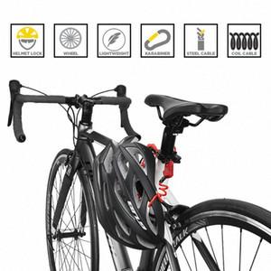 ULAC Mini Accessori Ciclismo 1200 millimetri pieghevole zaino del casco blocco filo biciclette 3digit password Antifurto biciclette blocco PI2z #