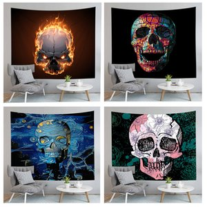 Halloween Holiday Series Skull Pattern Dormitory Room Decoration Hot Sale Human Family Tapestry Fashion Horror Atmosphere