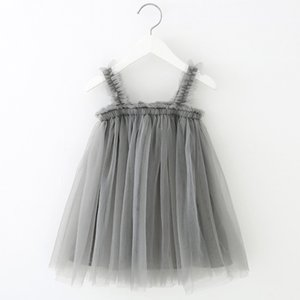 Lace Little Princess Dresses Summer Solid Sleeveless Tulle Tutu Dresses For girls elegant princess dress Clothes Party Pageant 1