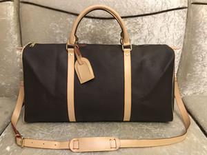 2019 Männer Seesack Frauen reisen Handgepäck Taschen Luxus-Designer-Reisetasche Männer PU-Leder-Handtaschen große Umhängetasche tote 55cm