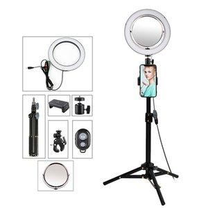 9 polegadas iluminação fotográfica selfie Luz Anel com tripé Telefone Espelho Suporte para LightRing Camera vídeos YouTube LED