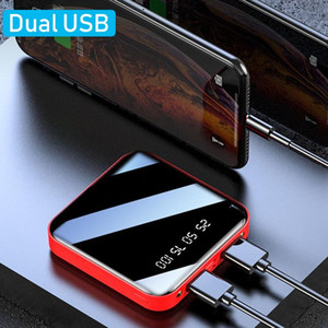 Portable 8000 mAh Mini Power Bank for All Cell Phones Universal Dual USB DC Fast Charging External Battery Pack