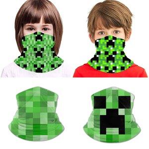 Minecraft soie de glace bavette adolescent impression ammoniaque polyester protège-poignets Bandanas masque facial, colliers, bandeaux, serre-têtes, masques de chapeaux de pirates