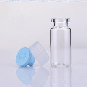 Botella de perfume líquido claro de cristal de borosilicato de fondo plano de las botellas de cristal Diminuto Pequeño tarros de cristal 3 ml 5 ml 10 ml DHD1551