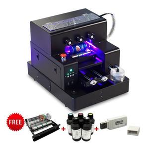 Entièrement automatique UV Imprimante multifonction A4 jet d'encre UV à plat Machine d'impression pour téléphone Boîtier Cylindre Bois Verre de haute qualité