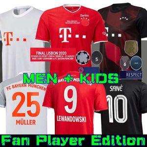 20 21 SANE LEWANDOWSKI Bayern de Munique Gnabry jérsei de futebol 2020 2021 camisa camisa de futebol NIANZOU MUNCHEN Men + KIDS Kimmich finais uniformes