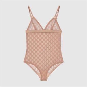 Moda Kadınlar Seksi Bikini Mayo Yaz Sonbahar Şeffaf Tek Parça Ana Giyim Özlü Mektupları Baskılı Seksi Mayo