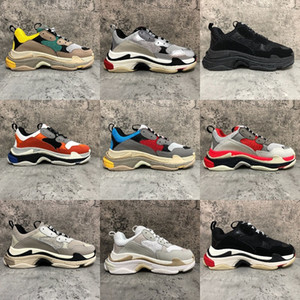 2020 Fashion Paris 17FW Triple-S Sneaker Triple S Casual Dad Shoes for Men's Women Beige Black Ceahp Sports Shoes Size 36-45