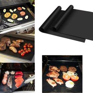 Réutilisable antiadhésifs BBQ Grill Mat Pad cuisson feuille portable extérieur pique-nique de cuisson Barbecue Four Outil Accessoires de barbecue Gril Mat OWD858