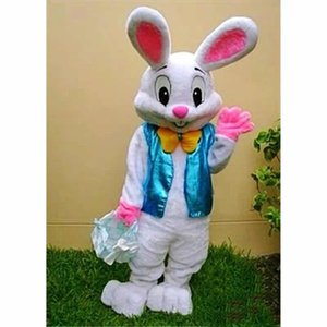 2019 Professional factory hot EASTER BUNNY MASCOT COSTUME Bugs Rabbit Hare Adult Fancy Dress Cartoon Suit
