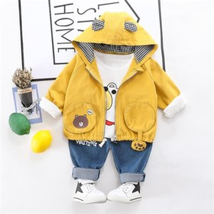 2020 Spring Autumn Baby Boys Clothing Set Children Boys Tracksuit 3 Pcs Coat+SHIRT+pants Clothes Suit Kids Boys Clothing Outfits
