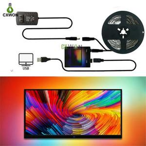 Ambilight TV Strip Kit USB rêve LED bande de couleur 1M 2M 3M 4M 5M RGB WS2812B bande pour écran TV PC éclairage Rétro-éclairage