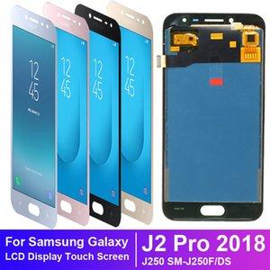Herramientas J250 LCD original Super AMOLED Pantalla Samsung Galaxy J2 Pro 2018 SM-J250F / DS pantalla LCD de pantalla táctil digitalizador Asamblea J250F- + gratis