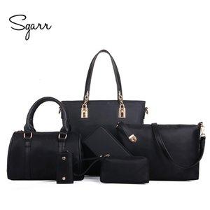 SGARR Luxury Shoulder Handbag Moda Nylon 6 Pezzi Imposta Borse compositi grande capacità Tote Bag per le donne Clutchoutlet