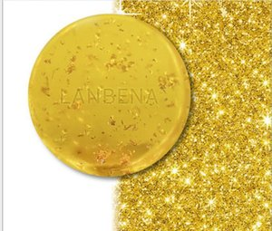 Wholesale There is a deep Soap place for seaweed cleaning by 24K gold Handmade