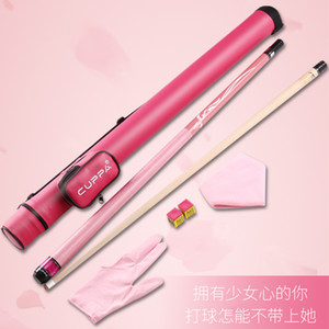 Original Cuppa Ladies Pool Cue Pink 11.75 13mm Tip Professional Maple Shaft Lrish Linen Grip Billiard with Case Gift For Black 8
