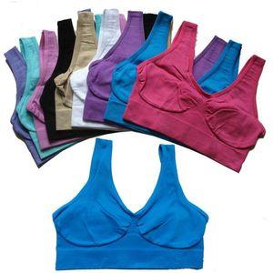 Ааа Бюстгальтеры Спорт Йога бюстгальтеры тренировки Фитнес Vest Sleep Push Up бюстгальтеры Body Shape Бесшовные Упругие Crop Tops Мода Sexy Women белье DHB1500