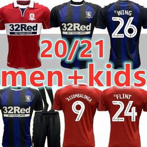 Homens + Crianças 2020 2021 MIDDLESBROUGH 20 21 jérsei de futebol Ashley Michael Fletcher 11 FLINT 24 ASA camisas 26 ASSOMBALONGA 9 casa longe de futebol