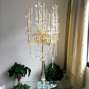 Table Candle Holder Metal Crystal Candlestick Home Decoration Geometric Candle Holders For Wedding Dinner Decoration ZZT057