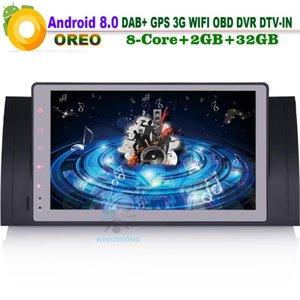 """9"""" Android 8.0 DAB Autoradio + Car Stereo Wifi 3G GPS Bluetooth OBD Navi DVB-T2 Radio Player voiture pour 5 Série E39 M5 E53 X5"""